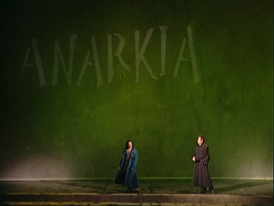 Bruno Pelletier as Gringoire & Daniel Lavoie as Frollo performing Anarkia Notre Dame de Paris picture image