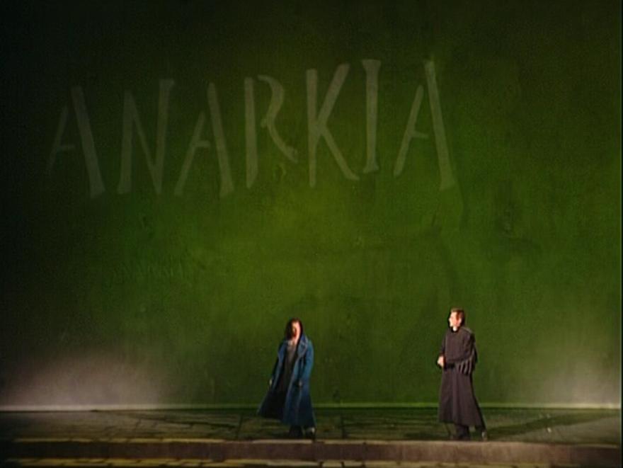 Bruno Pelletier as Gringoire & Daniel Lavoie as Frollo performing Anarkia Notre Dame de Paris picture image