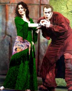 The Red Promotional Notre Dame de Paris in Green, Tina Arena(Esmeralda) and Garou (Quasimodo)   picture image
