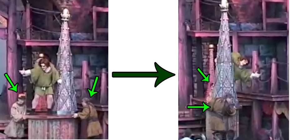 Disney Hunchback of Notre Dame Stage Show Spire Turn during Out there picture