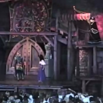 Frollo interrupting the couple in Notre Dame a.k.a Not Grope Disney Hunchback of Notre Dame Stage Show picture image