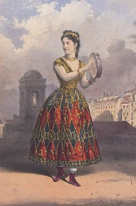Adelina Patti as Esmeralda 1870 picture image