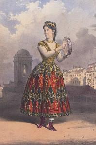 Adelina Patti as Esmeralda 1870 picture image