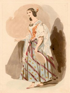 Costume design for La Esmeralda Opera 1831 picture image