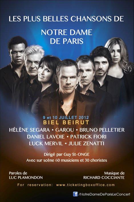 Notre Dame de Paris Beirut Concerts 2012 picture image