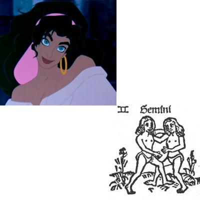 Gemini Esmeralda hunchback of Notre Dame disney picture image