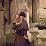 Hugh Jackman as Jean Valjean & Isabelle Allen as young Cosette Les Misérables 2012 movie picture image