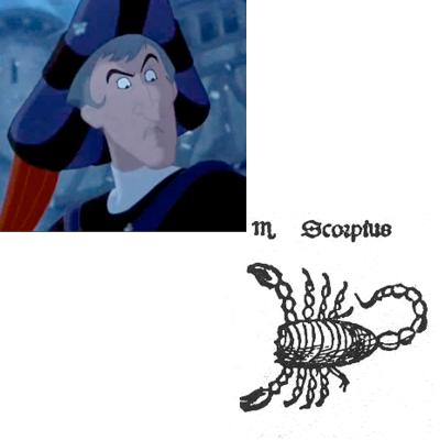 Scorpio Frollo hunchback of Notre Dame disney picture image