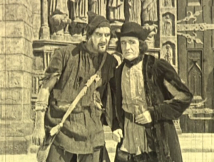 Clopin (Ernest Torrence) & Jehan (Brandon Hurst) 1923 The Hunchback of Notre Dame picture image