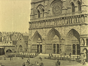Notre Dame de Paris set from the 1923 version of Hunchback picture image