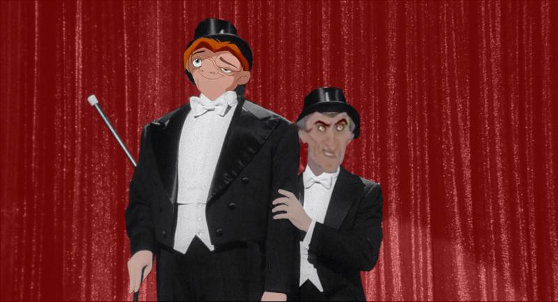 Frollo and Quasimodo singing Puttin on the Ritz picture image