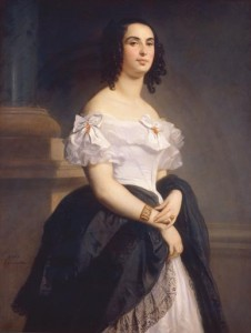 Portrait of Adele Hugo by Gemaelde von Louis Boulanger image