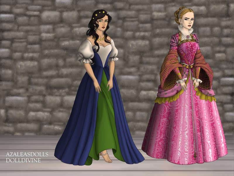 Esmeralda and  Fleur de Lys The Tudors Scene picture image