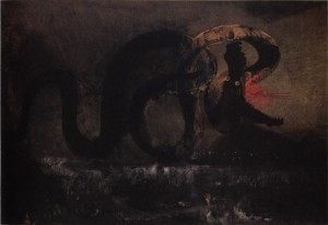 Victor Hugo The Snake c1866 picture image