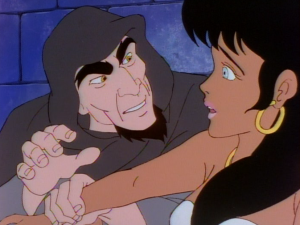 Frollo and Esmeralda from the Jetlag version of The Hunchback of Notre Dame picture image