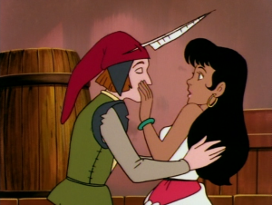 Gringoire tries to score a kiss Jetlag version Hunchback of Notre Dame picture image
