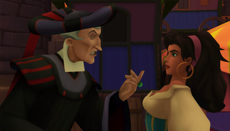 Esmeralda and Frollo in Kingdom Hearts picture image
