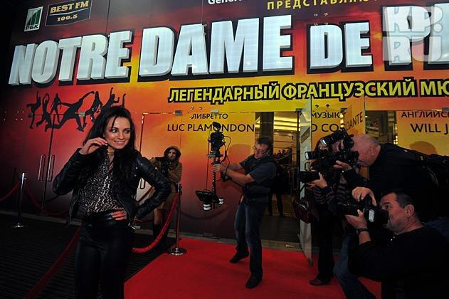 Former Russian Esmeralda, Svetlana Sveikova at the Notre Dame de Paris Premier at Crocus City picture image