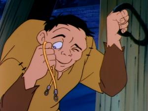 Quasimodo holding Esmeralda's Necklace, Jetlag Hunchback of Notre Dame picture image