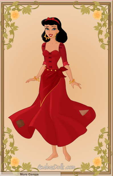 Inspired by Gina Lollobridga's Esmeralda using the Heroine Creator on Azalea Dolls picture image