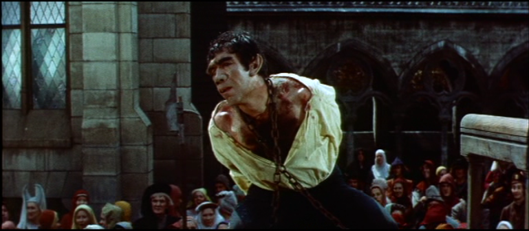 Quasimodo (Anthony Quinn) on the Pillory 1956 The Hunchback of Notre Dame picture image