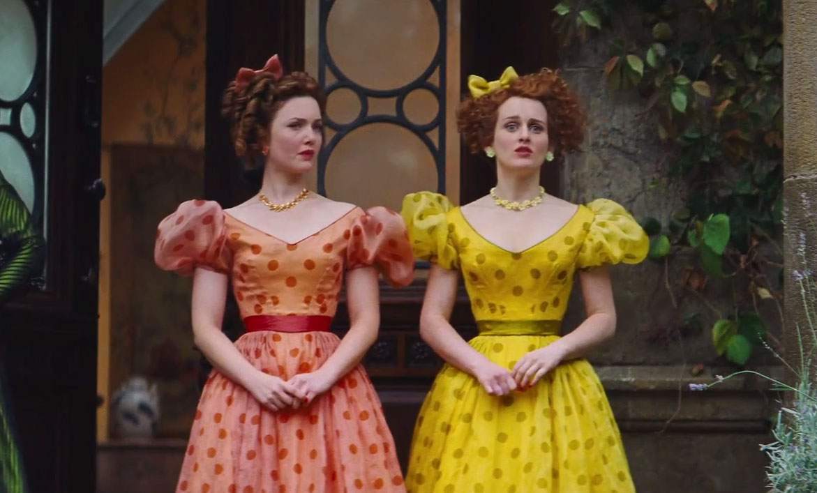 Holliday Grainger as Anastasia with Sophie McShera  in Cinderellla picture image