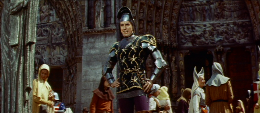 Jean Danet as Phoebus,1956 Hunchback  of Notre dame  picture image
