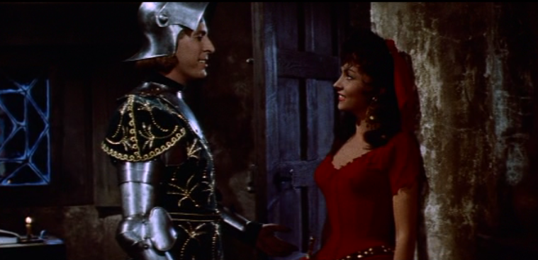 Jean Danet as Phoebus & Gina Lollobrigida as Esmeralda,1956 Hunchback  of Notre dame  picture image