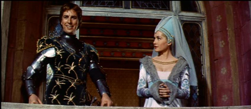 Jean Danet as Phoebus & Danielle Dumont as Fleur de Lys, 1956 Hunchback  of Notre dame picture image