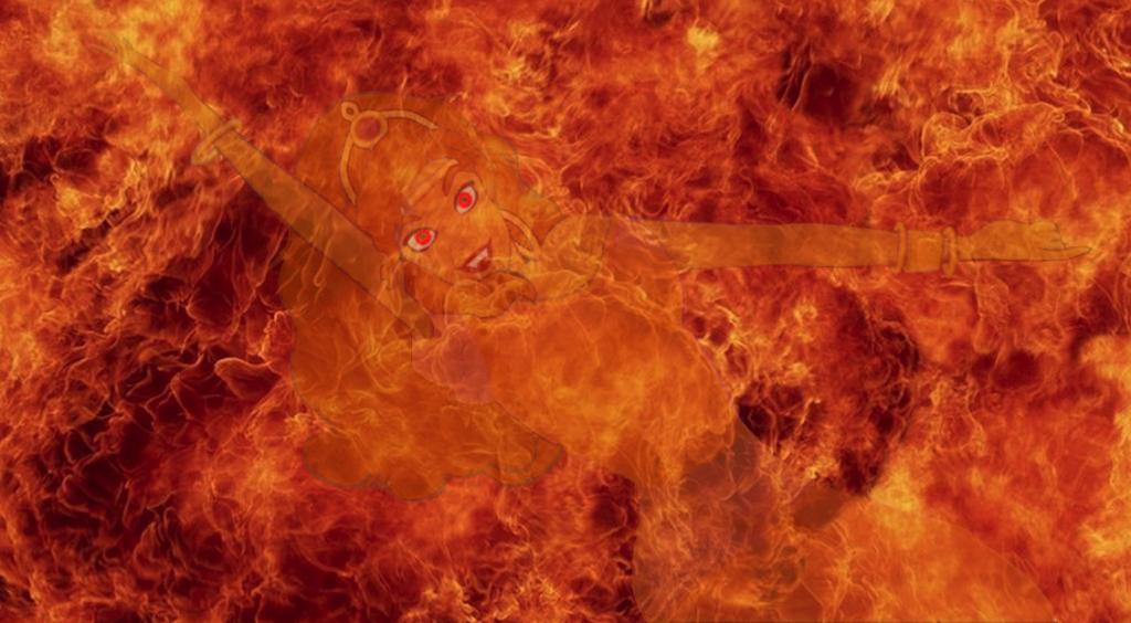 Esmeralda as a fire demon, Disney fan-art