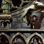 The Famous Sanctuary scene at a flat angle, 1956 Hunchback of Notre dame