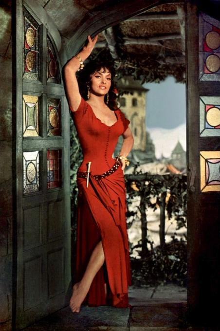 Gina Lollobrigida as Esmeralda, 1956 Hunchback of Notre Dame , picture image