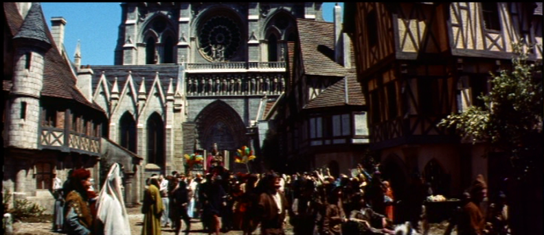 Streets In Front of Notre Dame,  1956 Hunchback of Notre Dame    picture image