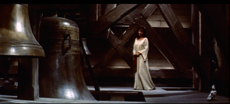 Esmeralda (Gina Lollobrigida) in the bell tower, 1956 Hunchback of Notre Dame  picture image