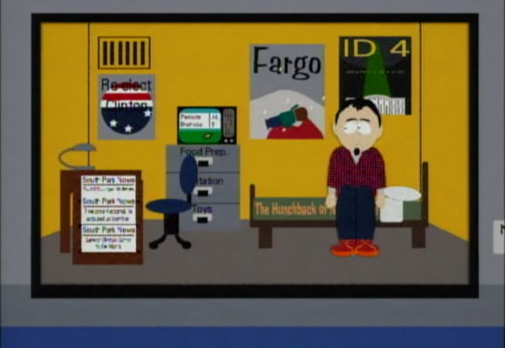 The 1996 habitat from South Park  Season 2 Episode 18, Prehistoric Ice Man   picture image