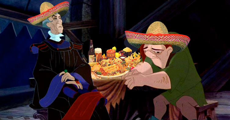 Frollo and Quasimodo celebrate Cinco de Mayo