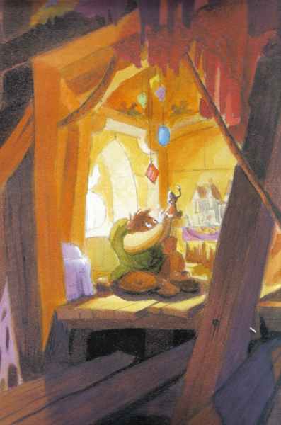 Concept Art of Quasimodo from the Art of the Hunchback  of Notre Dame, picture image