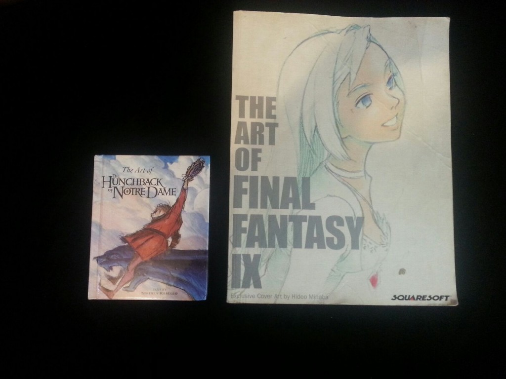 Size comparison of The Art of the Hunchback of Notre to The Art of Final Fantasy IX picture image