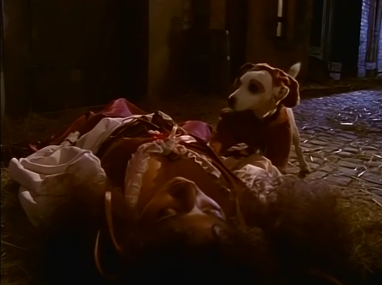 Esmeralda (Lanell Pena) and Wishbone as Quasimodo, The Hunchdog of Notre Dame, picture image