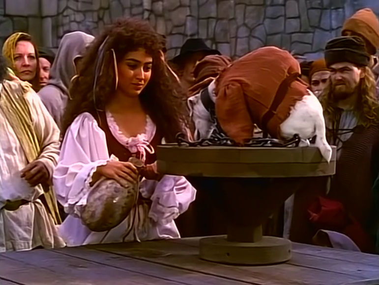 Esmeralda (Lanell Pena) and Wishbone as Quasimodo, The Hunchdog of Notre Dame picture image
