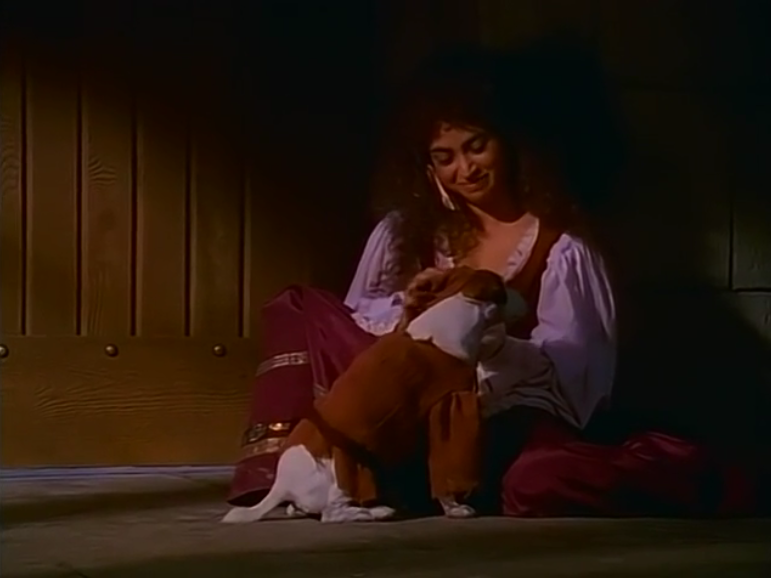 Esmeralda (Lanell Pena) and Wishbone as Quasimodo, The Hunchdog of Notre Dame, ;icture image