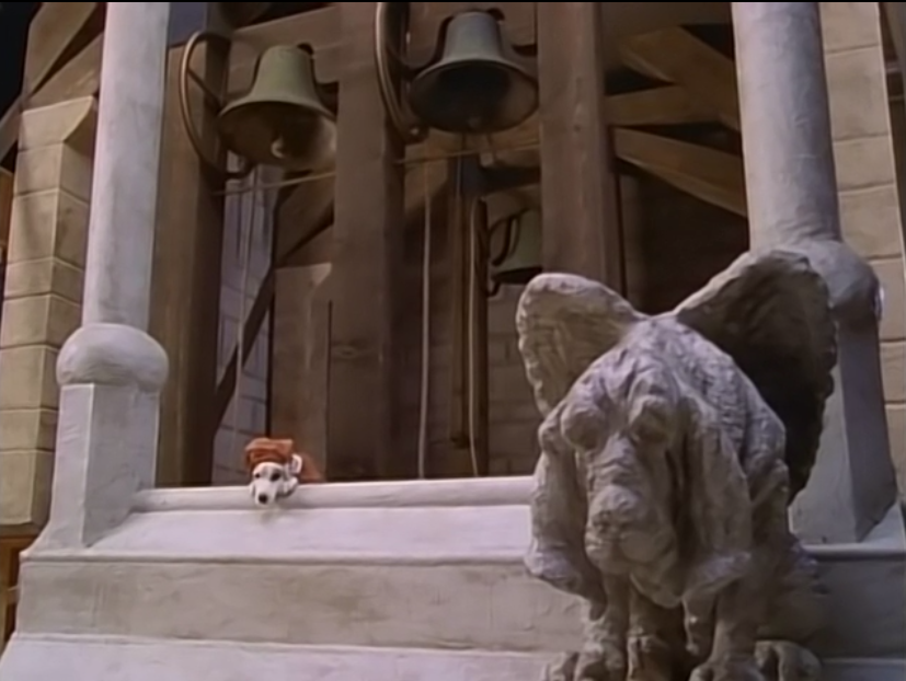 Wishbone as Quasimodo with a Gargoyle-Dog, The Hunchdog of Notre Dame, picture image