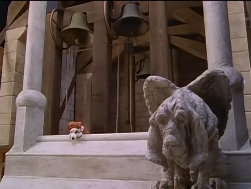 Wishbone as Quasimodo with a Gargoyle-Dog, The Hunchdog of Notre Dame, picture image