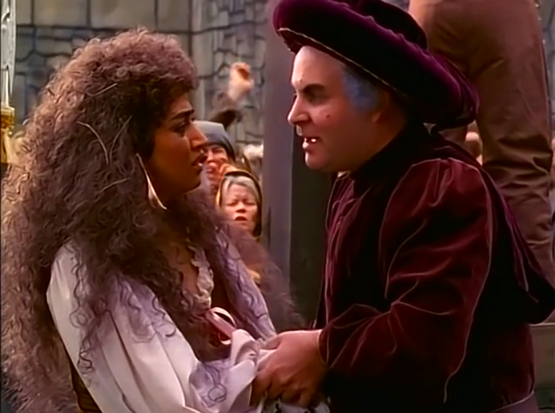 Esmeralda (Lanell Pena) and Frollo (Sean Hennigan), Wishbone, The Hunchdog of Notre Dame, picture image