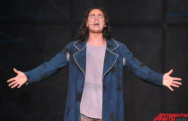 Richard Charest as Gringoire, Notre Dame de Paris, World Tour, Crocus City Hall, picture image