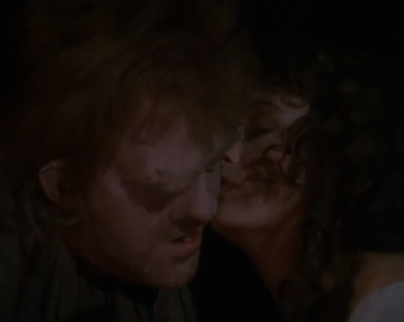 Anthony Hopkins as Quasimodo and Lesley-Anne Down as Esmeralda,  1982 Hunchback of Notre Dame