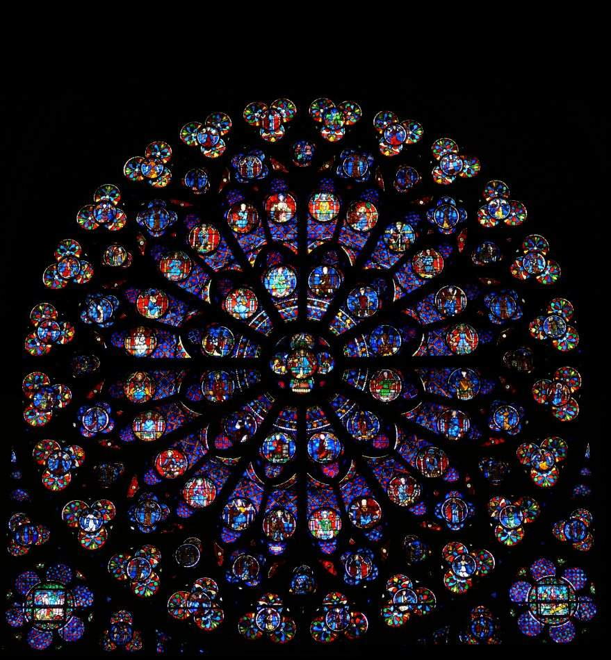 Notre Dame's South Rose Window picture image