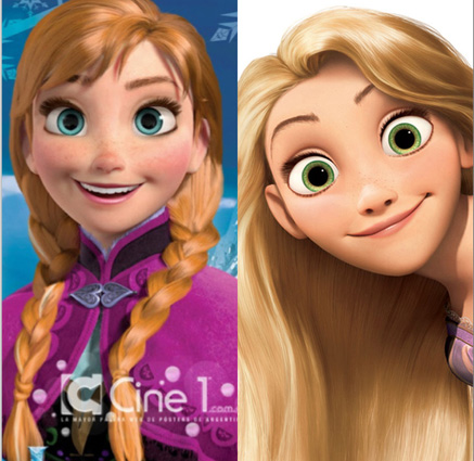 Anna (Frozen) & Rapunzel (Tangled)) picture image