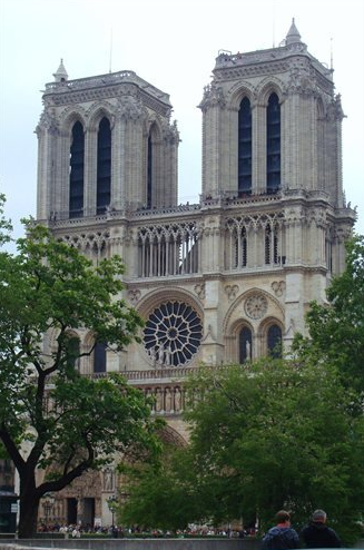 Notre Dame, Paris, France - Matted Photo