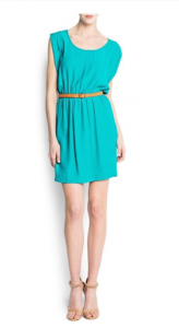 Mango Women's Embossed Belt Dress picture image